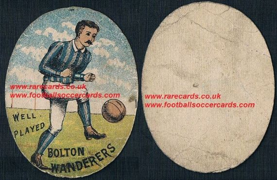 1880s Richardsons 1st football card ever for Bolton Wanderers
